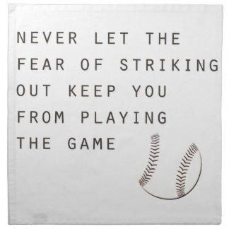 miedo de pegar hacia fuera béisbol moderno servilletas