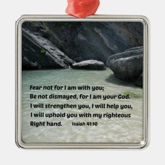 Miedo del 41 10 de Isaías no para mí estoy con ust Ornamentos De Navidad