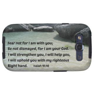Miedo del 41 10 de Isaías no para mí estoy con ust Galaxy S3 Carcasa