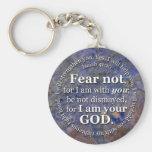 Miedo del 41:10 de Isaías no para mí estoy con ust Llaveros