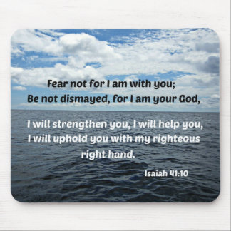 Miedo del 41:10 de Isaías no para mí estoy con ust Mouse Pad