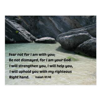 Miedo del 41:10 de Isaías no para mí estoy con ust Postales