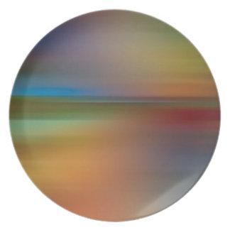 Miedo del disco de los colores del extracto plato de cena
