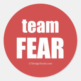 Miedo del equipo - pegatinas pegatina redonda