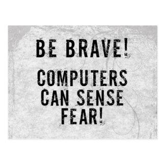 Miedo del ordenador postales
