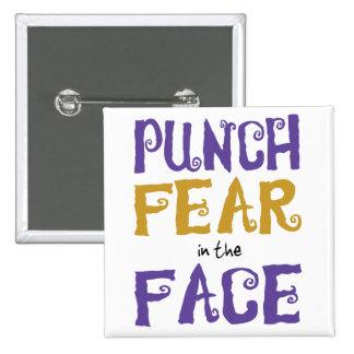 Miedo del sacador en la cara