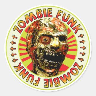 Miedo del zombi etiqueta