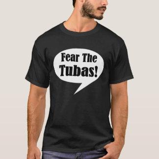 Miedo divertido de la música de la cita de la tuba playera
