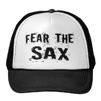 Miedo divertido el gorra del saxofón