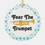 Miedo divertido el navidad de la banda de la músic ornaments para arbol de navidad