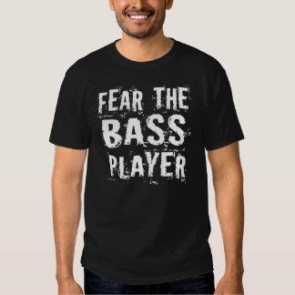 Miedo divertido la camiseta de la música del playeras