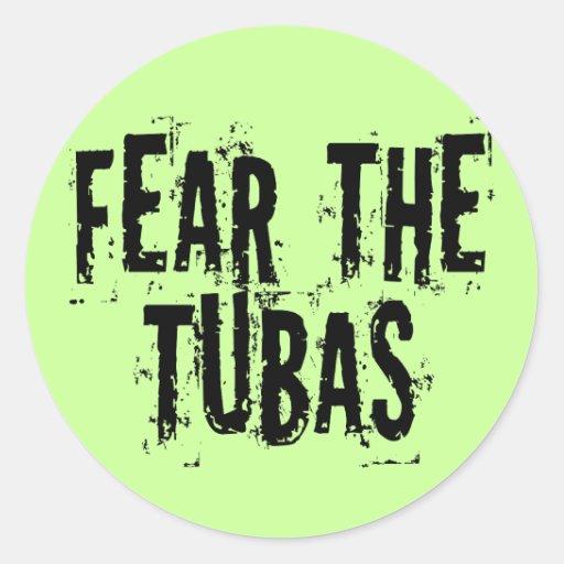Miedo divertido las tubas pegatina redonda