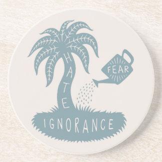 Miedo + Ignorancia = odio Posavasos Diseño