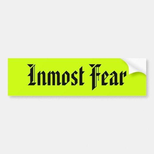 Miedo íntimo etiqueta de parachoque