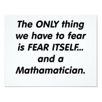 """miedo mathamatician invitación 4.25"""" x 5.5"""""""