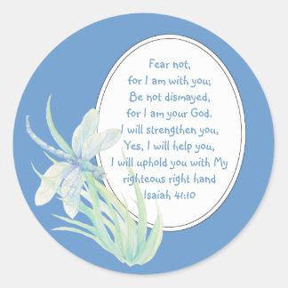 Miedo no azul de la libélula de la escritura de I Pegatinas