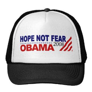 Miedo Obama 08 de la esperanza no Gorros Bordados