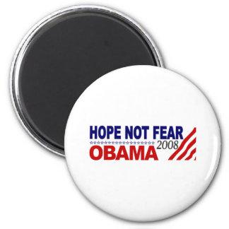 Miedo Obama 08 de la esperanza no Imán Redondo 5 Cm