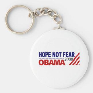 Miedo Obama 08 de la esperanza no Llaveros Personalizados