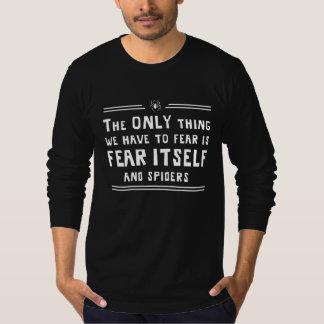 Miedo sí mismo y arañas playera