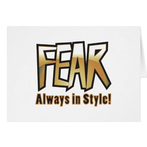 miedo también felicitación