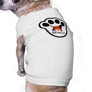 Miedo único esta ropa del perro del beagle playera sin mangas para perro
