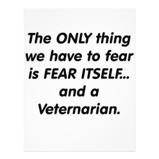 Miedo veternarian tarjetas informativas