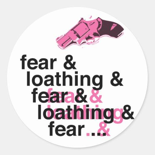 Miedo y repugnancia etiqueta redonda