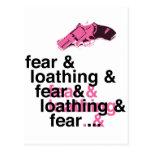 Miedo y repugnancia postal