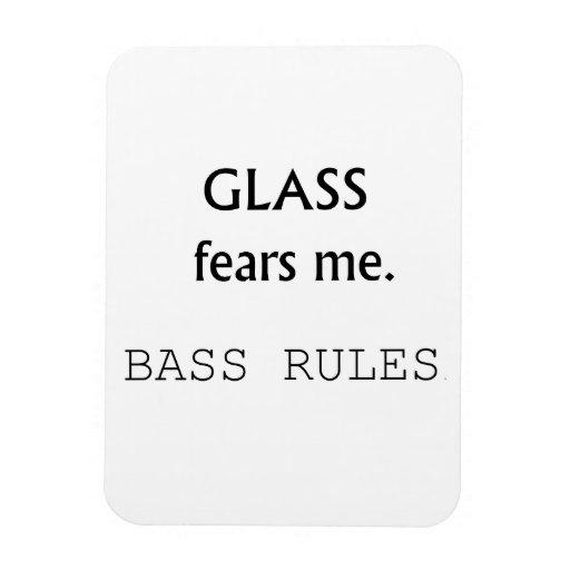 ¡Miedos de cristal yo, reglas bajas! texto negro Imanes