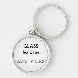 ¡Miedos de cristal yo, reglas bajas! texto negro Llavero Redondo Plateado