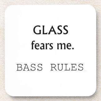 ¡Miedos de cristal yo, reglas bajas! texto negro Posavasos De Bebidas