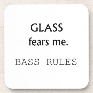 ¡Miedos de cristal yo, reglas bajas! texto negro Posavasos