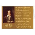 Miedos de John Keats Tarjetón