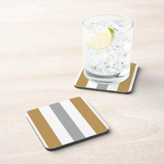 Miel, brezo y raya blanca posavasos de bebida