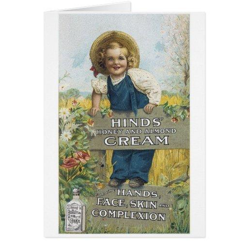 Miel de Hinds y crema de la almendra Tarjeton