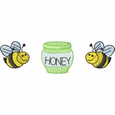 Miel de las abejas de la miel sudadera bordada con capucha