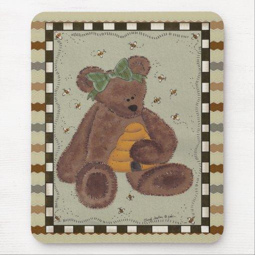 Miel del oso de peluche alfombrillas de raton