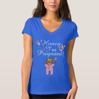 Miel estoy embarazada - la camiseta del cuello en