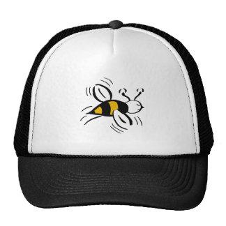 Miel libre y negro de la abeja gorros