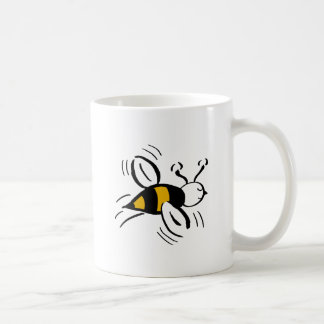 Miel libre y negro de la abeja tazas de café