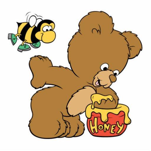 Miel que se escabulle del oso divertido escultura fotografica