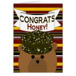 ¡Miel - soldado Congrats del ejército! Tarjeta
