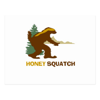 Miel Squatch Postales