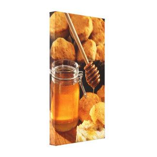 Miel y impresión de la lona de las galletas impresion de lienzo