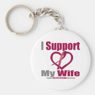 Mieloma múltiple apoyo a mi esposa llavero