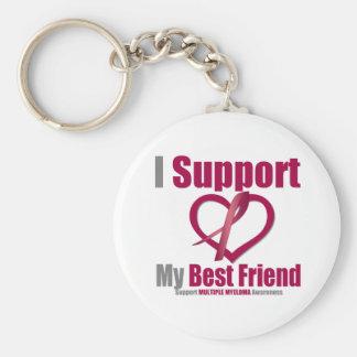 Mieloma múltiple apoyo a mi mejor amigo llaveros