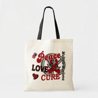 Mieloma múltiple de la curación 2 del amor de la p bolsas lienzo