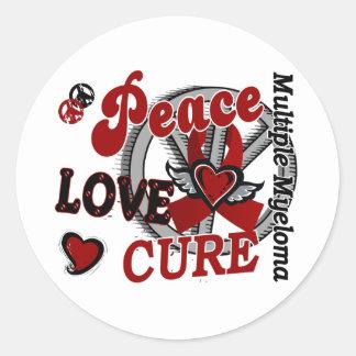 Mieloma múltiple de la curación 2 del amor de la etiqueta redonda