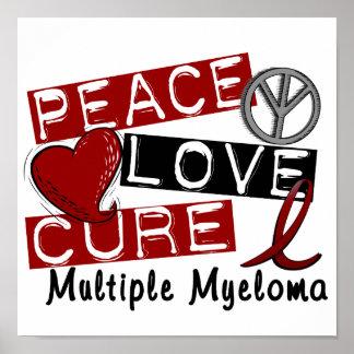 Mieloma múltiple de la curación del amor de la paz póster